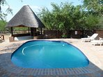Sparkling swimming pool and Lapa area with built in Barbecue.