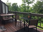 Main level deck with outdoor seating