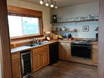 Kitchen with all major amenities including Wine cooler and Keurig, Cappuccino maker, waffle maker