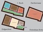 Ferienhaus Oleander - Der Grundriss