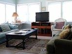 Unit A Sunroom with LCD TV, Bluray/DVD, Roku, Sleeper Sofa