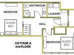 Cottage A 2nd Floor Plan