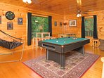 Fun galore in the large game room. Challenge your friends  to a game of pool.