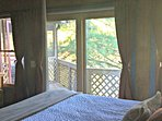 Master bedroom view of the lake