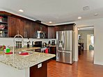 FULLY equipped kitchen - brand new LG stainless steel appliances.