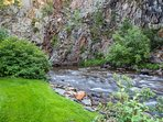 The sound of the creek has a real calming effect - you'll enjoy your stay here!