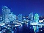 yokohama bay area  tokyo metropolitan expressway night view tour