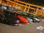 daikoku loop car maniac parking area   tokyo metropolitan expressway night view tour