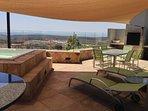 3rd floor patio with BBQ and spa (Seasonal)