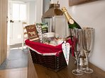 A warm welcome (and chilled champagne) awaits you. A welcome basket of homemade and seasonal treats