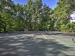 Work up a sweat on the community tennis courts.