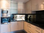 Fully fitted gourmet kitchen