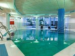 Interior  heated swimming pool (salted water)
