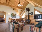 The Loft is a great place to read a book, sit by the fire, or watch TV!