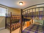 Bunk beds next to the Family/Rec room. Also adjacent and spacious washroom.