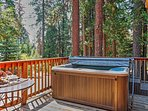 Hot tub with a view!