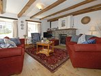Solva, Pembrokeshire - cosy holiday cottage with open plan living room and electric log effect fire