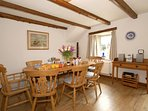 North Pembrokeshire holiday home - open plan dining room