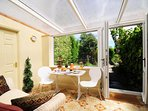 Aberaeron holiday home - conservatory