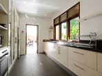 Private alley side/ ground floor: full fitted modern kitchen