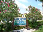 Entrance to Lake Tarpon Villas.