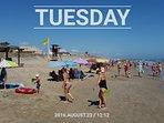 La playa no se masifica ni en agosto