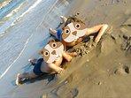 Los niños disfrutarán haciendo castillos de arena