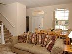 Open plan living/dining room.