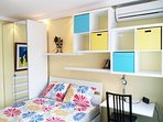 bedroom with airconditioner