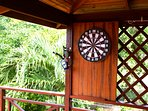 Dartboard on veranda