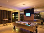 Work hard, play harder. Billiard table and pro bar included.