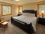 Main Level Master Bedroom - King bed, walk in closet and private master bath