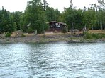 View of the cottage from Lake Superior.