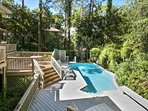 Private pool awaits you in this tropical oasis
