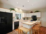 Well equipped kitchen perfect for meal preparation