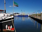 De haven van Oudeschild. Hier rustig maar in het weekend veel drukker!