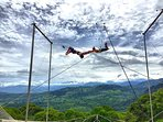 Flying trapeze class.