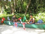 Our Stetson students. FREE use of the canoe :-)