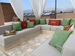 the roof terrace offers the best views of the Atlas Mountains