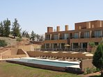 The hotel and the swimming pool which is open for all our guests