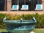 Villa 7's bird fountain