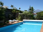 50 sqm heated pool with view of Mount Teide!