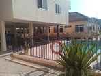 Back View of Accra Serviced Villas beside Poolside.
