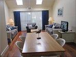 Modern, comfortable furnishings throughout