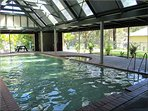 Heated pool with spa - undercover for all weather use