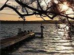 Sunset at the resort jetty