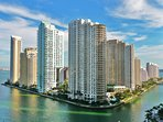 Walk to Brickell Key and keep walking or run along its 1.2 mi perimeter. No cars or bikes allowed