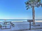 Beachfront vacation rental condo on Sunset Beach in Treasure Island, Florida