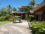 Complementary golf cart to drive to 2 world class beaches