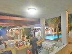 Main Pool Gazebo with Bar, freezer, two bathrooms, BBQ..